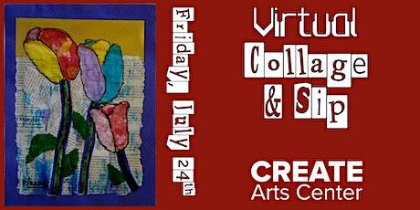 Virtual Collage & Sip tickets