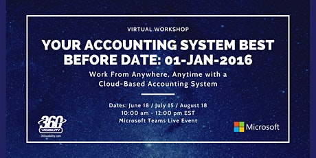 Your Accounting System Best Before Date: 01-JAN-2016 Tickets