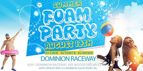 Foam Party 1K Bikini Contest at Dominion Raceway tickets
