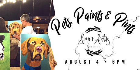 Pets, Paints & Pints at Amor Artis tickets