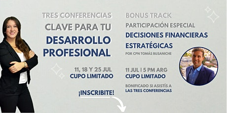 Tres conferencias clave para tu desarrollo profesional | BONUS TRACK! entradas