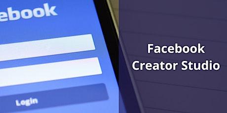 Facebook Creator Studio training tickets
