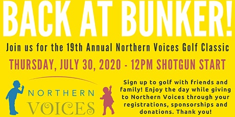 19th Annual Northern Voices Golf Classic- 2020 tickets