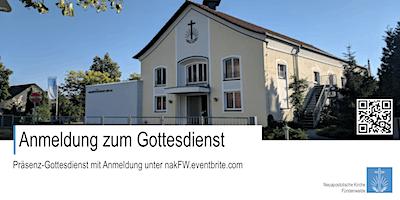 Präsenz-Gottesdienst (Übertragung aus Schwedt/Od