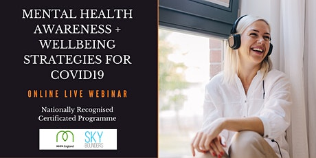 Workplace Mental Health Awareness Course Inc COVID19 Training 15th July tickets