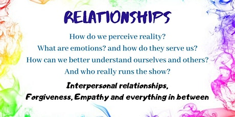 Interpersonal Relationships (and other vegetables...) tickets