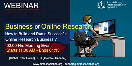 Business of Online Research tickets