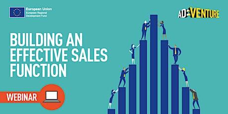 ADVENTURE Workshop - Building an Effective Sales Function Part 1 tickets
