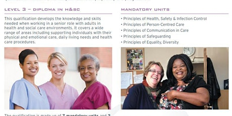 Level 3 Diploma in Health and Social Care tickets