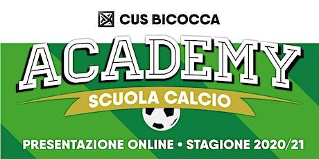 Presentazione CUS Bicocca Academy 2020/21 biglietti