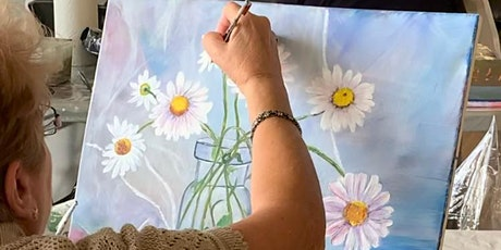 Fine Art Workshop - Beginner to Advanced Acrylic & Watercolor Painting billets