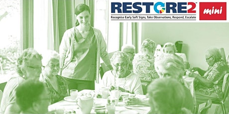 RESTORE2 Mini virtual training for care staff in the Community tickets