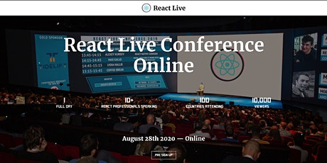 React Live Conference 2020 tickets