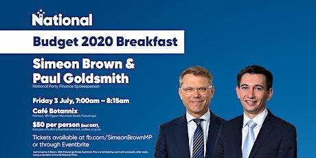 Budget 2020 Breakfast with Simeon Brown & Paul Goldsmith tickets