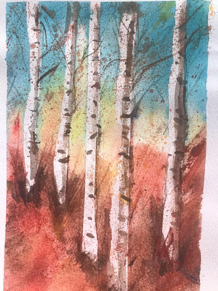 Online Watercolor Workshop with Lucia Gonnella, Free, presented by HVAW image
