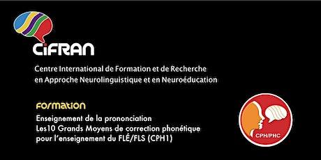 CPH1 - Québec - Optimiser la prononciation en langue seconde/étrangère billets