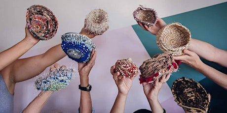 Coiled Basketry Online Workshop. Join from anywhere with Internet/Zoom tickets
