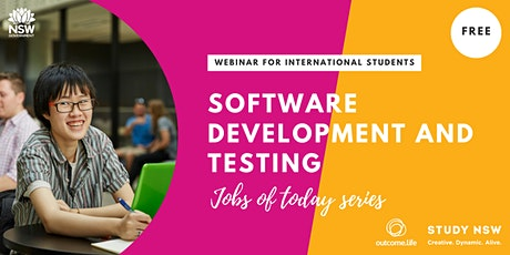 Jobs of Today Series: Software Development and Testing tickets