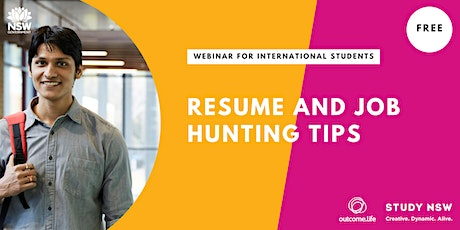 Resumes and Job Hunting Tips tickets
