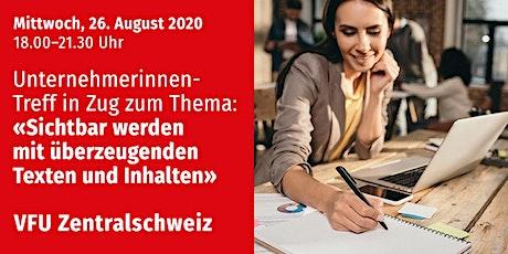 Unternehmerinnen-Treff, Zug, 26.08.2020 Tickets