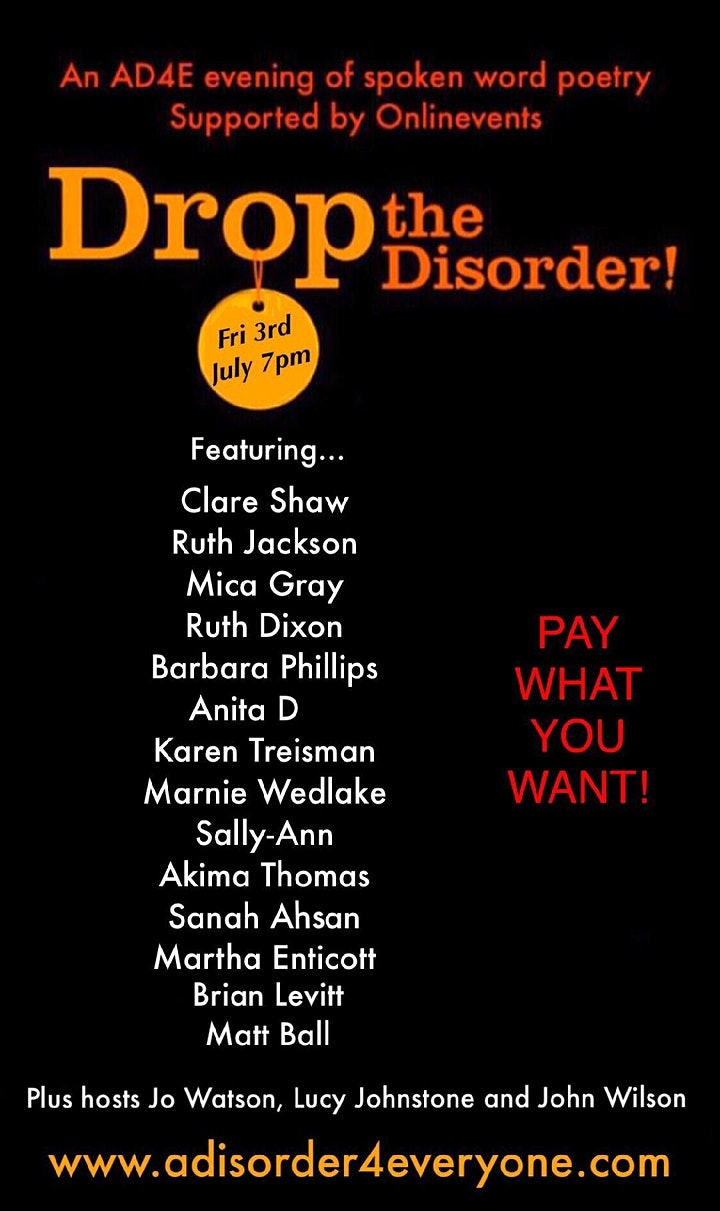 Drop the Disorder poetry evening image
