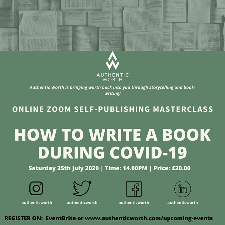 HOW TO WRITE A BOOK DURING COVID-19 image