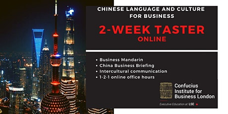 Chinese Language and Culture for Business: 2-week FREE taster tickets