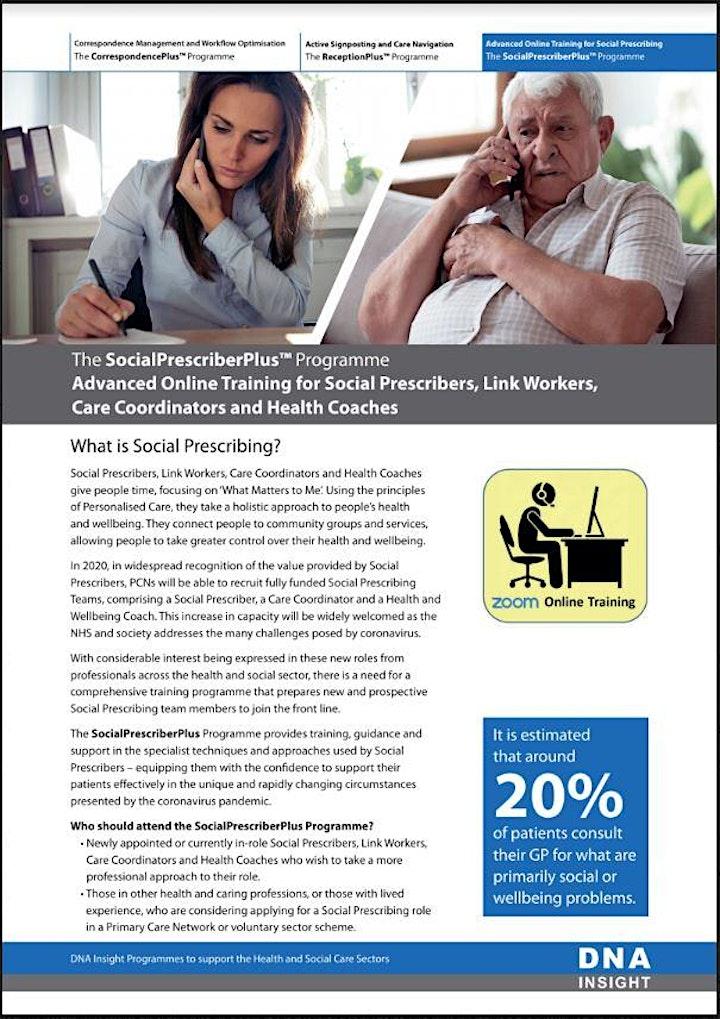 Online SocialPrescriberPlus Course for Link Workers and Care Coordinators image