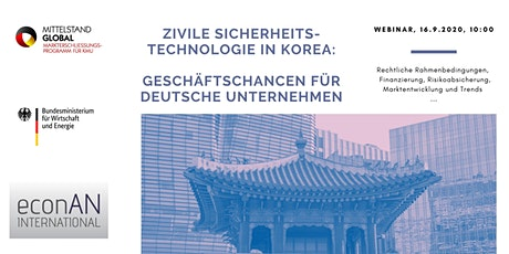 Geschäftschancen für Sicherheitstechnologie in Südkorea Tickets