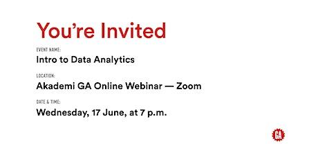 Intro to Data Analytics   Akademi GA tickets