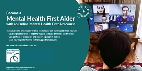 Online Mental Health First Aid Adult tickets