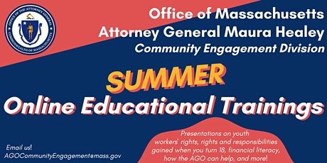 AG Healey's Summer Webinar Series tickets