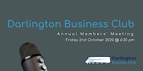 #DarloBizClub Virtual Members' Annual Meeting | 6:30 pm | 2 October 2020 tickets