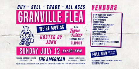 The Granville Flea - Welcome Back - We have moved  tickets