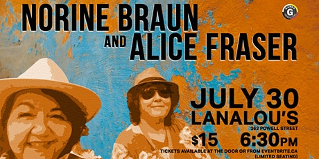 Norine Braun and Alice Fraser at LanaLou's tickets