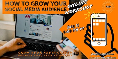 How to Grow Your Social Media Audience Online Workshop tickets