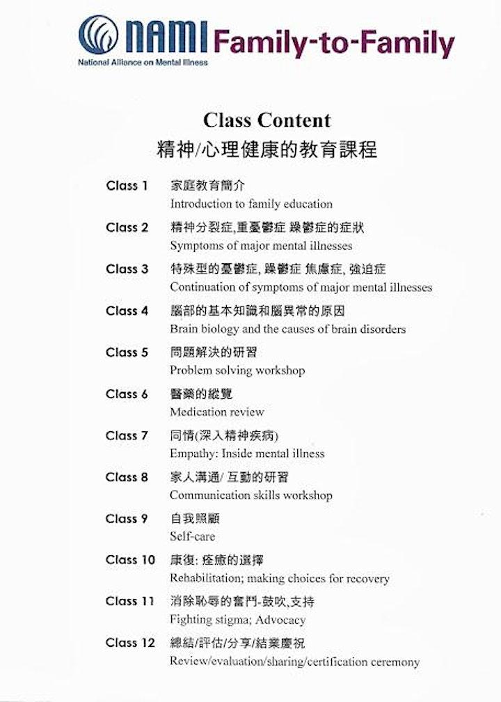 """美國華裔精神健康聯盟NAMI """"家連家""""2020年廣東話網上免費課程 image"""