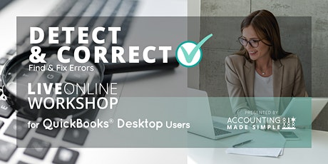 Detect & Correct Errors for QuickBooks Desktop Users tickets