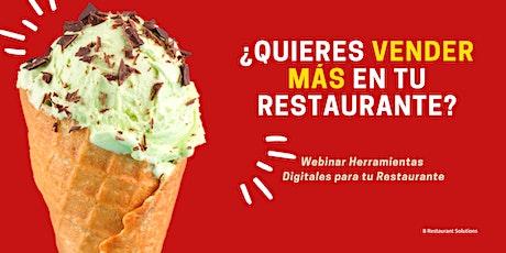 Webinar - Herramientas,  Digitales para Restaurantes entradas