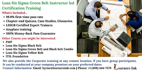 Lean Six Sigma Green Belt Certification Training Course (LSSGB) in Three Springs tickets