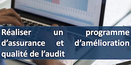 """Formation """" Réaliser un programme d'assurance qualité en audit """" billets"""