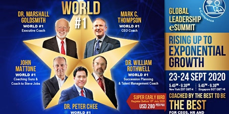 Global Leadership e-Summit: Rising Up To Exponential Growth tickets