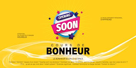 Cours de Bonheur 1h30 - septembre 2020 - Saint Ouen L'Aumône (95310) billets