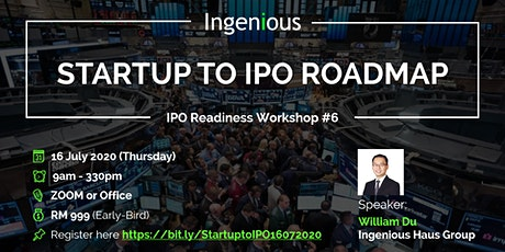 STARTUP TO IPO ROADMAP tickets