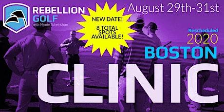 RESCHEDULED Boston Rebellion Golf Clinic with Monte Scheinblum tickets