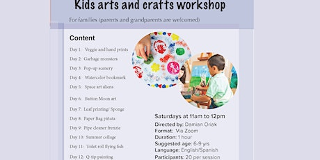 BNH Kids Arts and Crafts Workshop tickets
