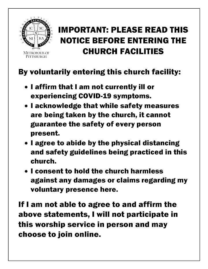 AMC Greek Orthodox Church  *Registration is no longer required* image