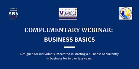 Business Basics  Live Webinar tickets