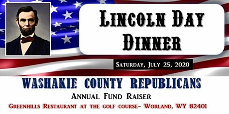 Washakie County Republican Lincoln Day Dinner Annual Fundraiser 2020 tickets