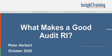 What Makes a Good Audit RI? tickets